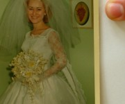 Photo of photo of my Mother on her wedding day