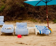 Chairs and bucket Lagona Beach