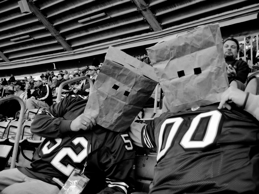Fans at a 49ers game