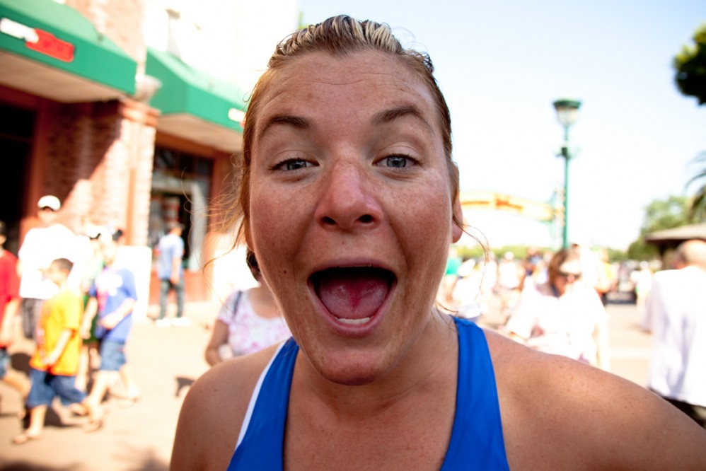Kristi Maher at the Disneyland Marathon