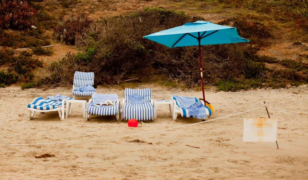 Chairs and bucket Lagona Beach