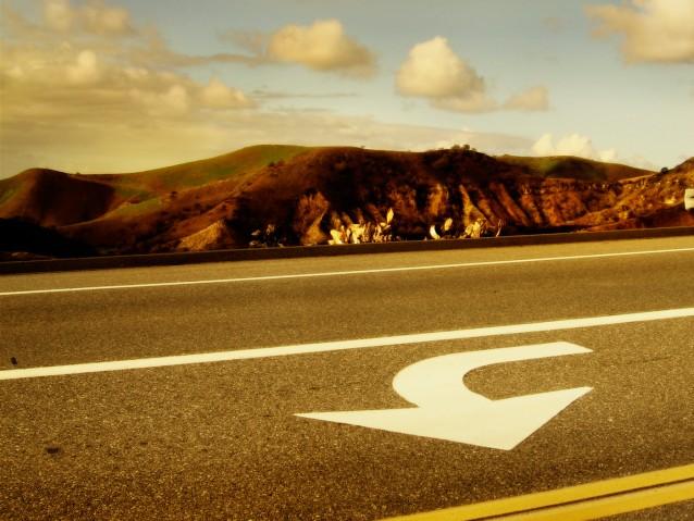 Santiago Canyon road, California