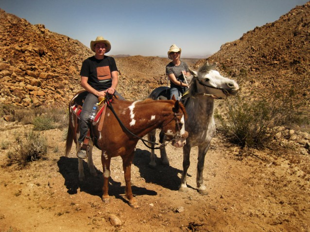 Michelle and I on horse back