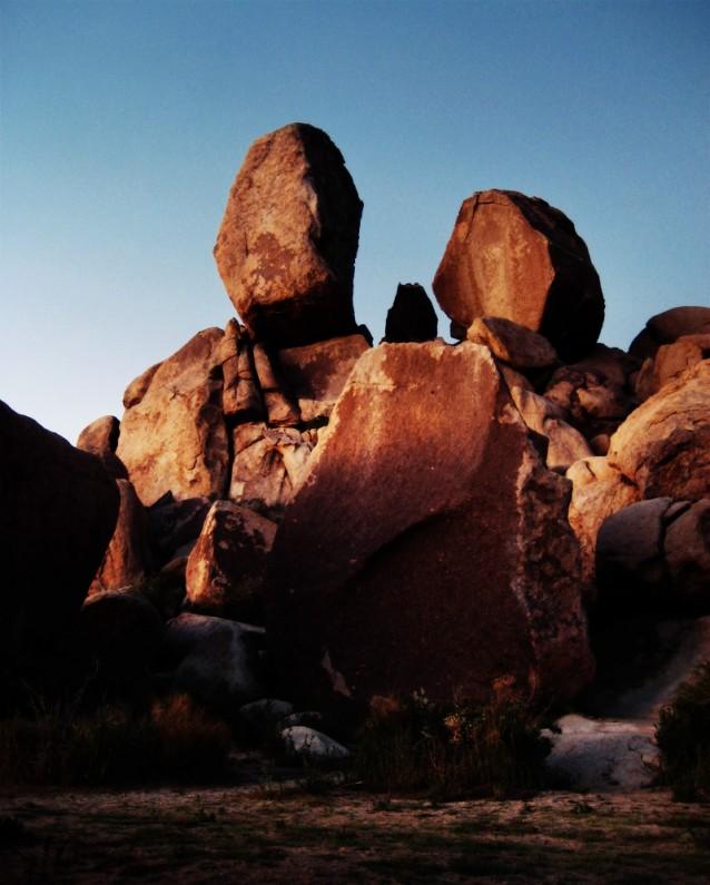 Dusk on stone gods