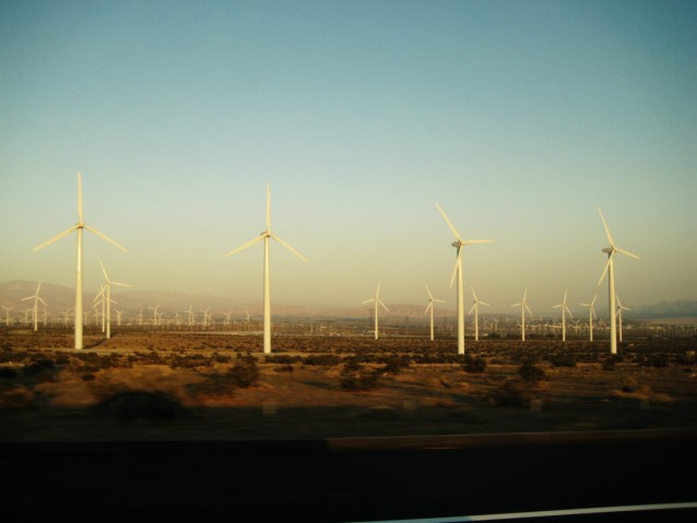 Windmills off Interstate 10