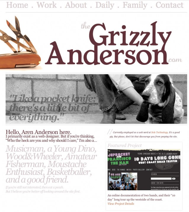 The Grizzly Anderson web persona
