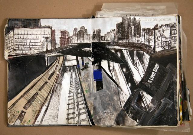 Halsted platform Blue Line