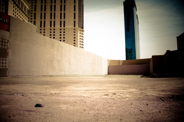 Large empty lot on the Vegas strip.